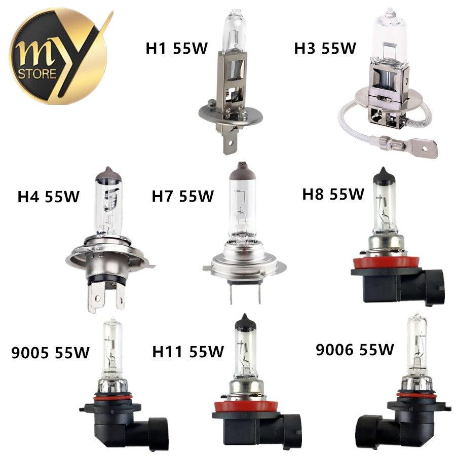Car Headlight Halogen Bulb H1 H3 H4 H7 H8 H11 9005 HB3 9006 HB4 12V 55W  100W 4300K Yellow Quartz Glass Fog Lamps Parking