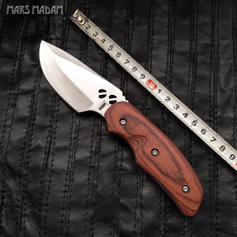 Ingyenes szállítás Ingyenes szállítás Vágószerszámok szabadtéri kések kicsi egyenes kés Kemping vadászkés olcsó