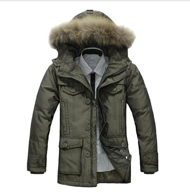 2013 new  genuine male men down jacket and long sections thicker detachable liner jacket male