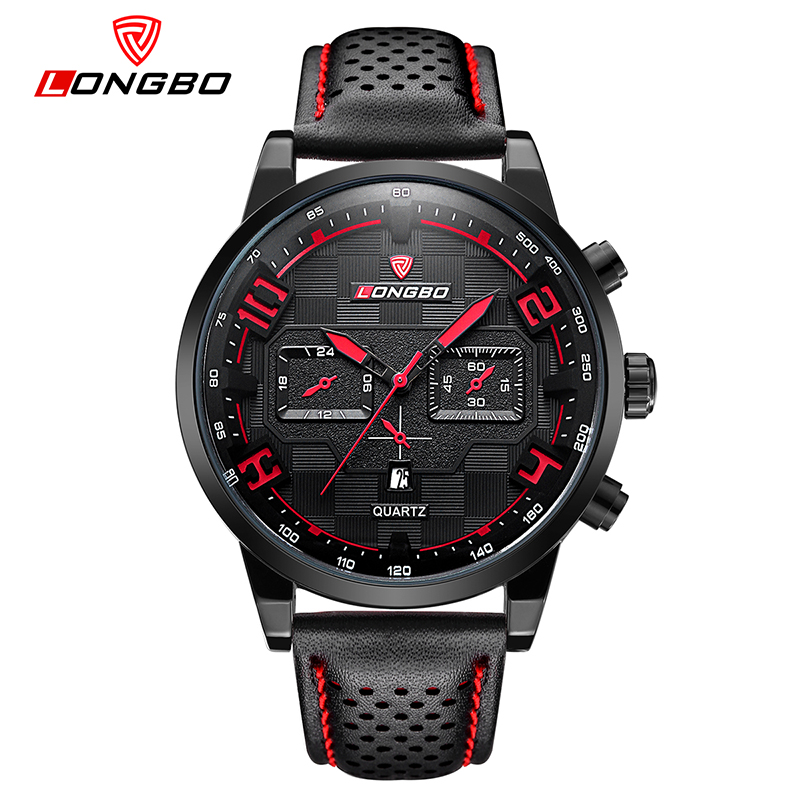 Relogio Masculino LONGBO Mens Watches Top Brand Luxury Fashion Business Quartz Watch Men Sport Leather Waterproof Wristwatch
