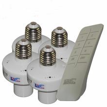 1/2/3/4*E27 Wireless Remote Control Light Lamp oN/off Switch Socket Holder rc smart device  110V 220V