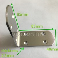 1pc DS312 Stainless Steel 8holes 85 85 40mm Round Corner Braces Connector Chair And Desk DIY