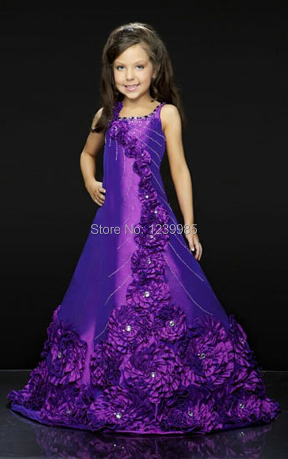 Blue Party Dresses for Little Girls