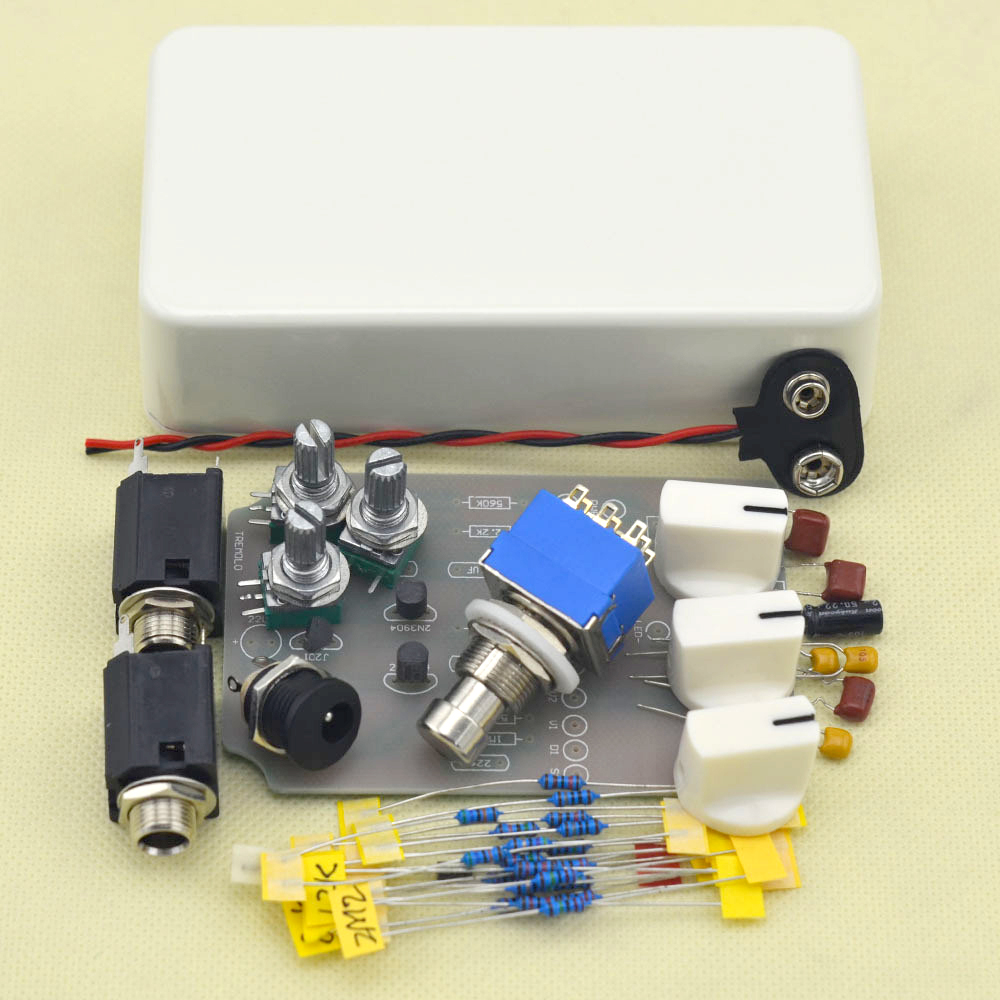 Make Your Tremolo Effect Pedal All kit With 1590B True Bypass mooer ensemble queen bass chorus effect pedal mini guitar effects true bypass with free connector and footswitch topper