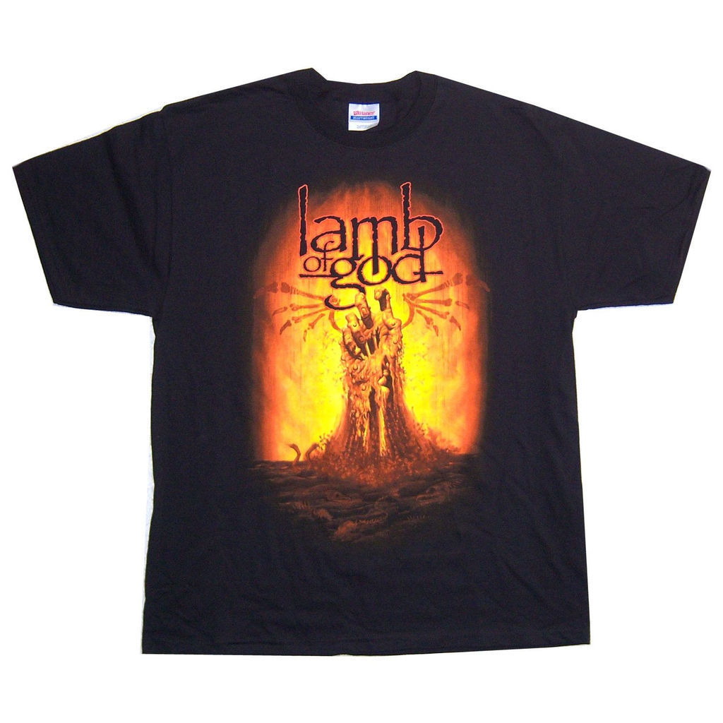 Lamb Of God Burning Hand Black T Shirt New Official