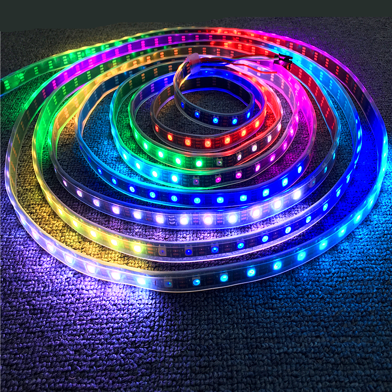 0.5m 1m 2m 3m 4m 5m White/black Pcb 30/60/144 Leds/m Ip30/ip65/ip67 Waterproof Dc 5v Ws2812b Dream Full Color Led Pixel Strip Lights & Lighting