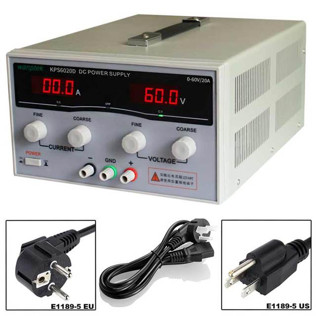 KPS6020D High Precision High Power Adjustable LED Display Switching DC Power Supply 220V 0-60V/0-20A For Laboratory and Teaching