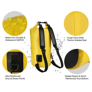 Image 3 - Piscifun 10 40L Waterproof Dry Bag + Phone Case Floating Dry Back Pack for Water Sports Fishing Boating Surfing Rafting Swimming