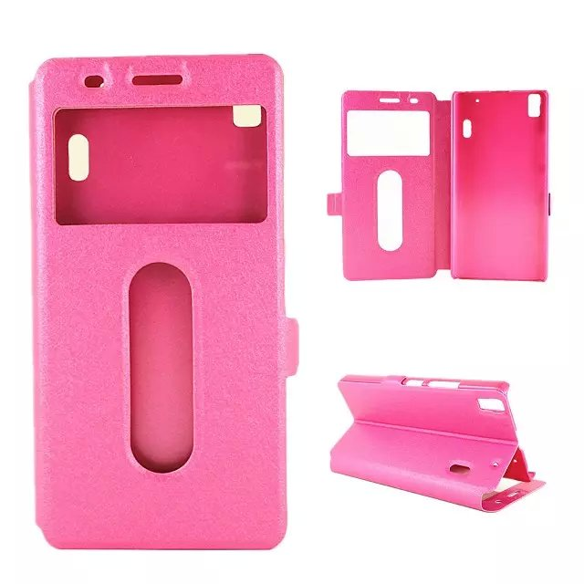 super popular b3fb3 ecb95 US $6.98 |Lenovo K3 Note Case Silk View Windows Wallet Case Flip Cover  Leather Cases Stand For Lenovo Lemon K3 Note mobile Phone Bags Case on ...