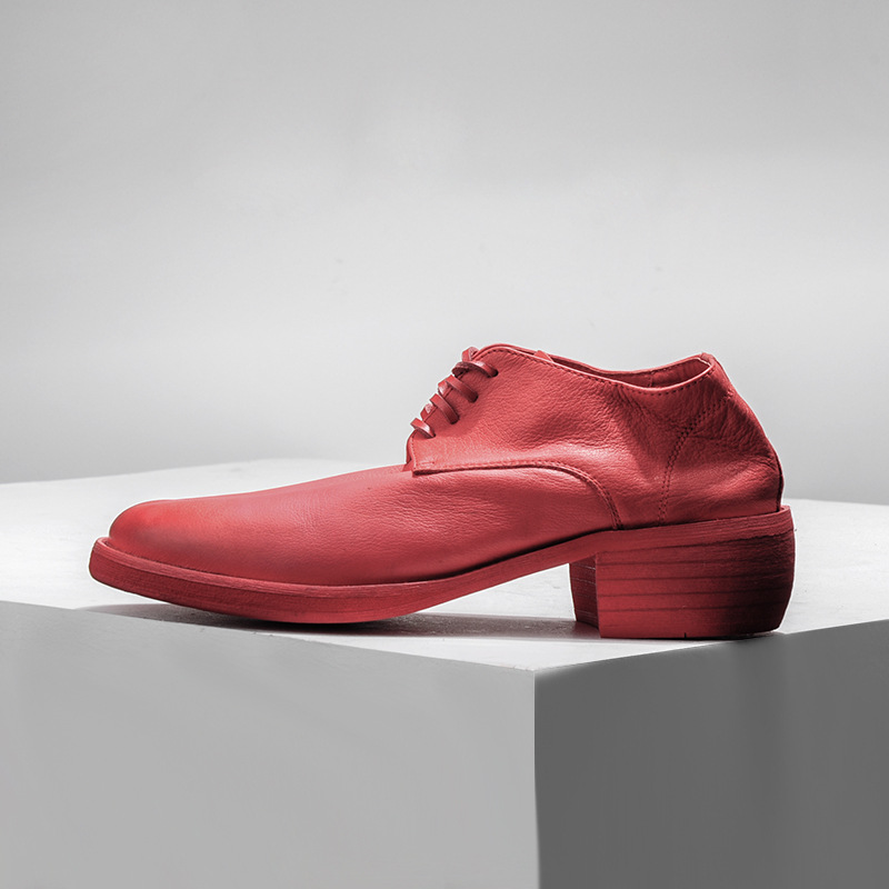 De blanco Seak Zapatillas rojo Vaca Encaje Vestir Hombres Boda Zapatos Rojo Masculinos Owen Lujo Los Negro Retro Blanco Negro Cuero Primavera qExRwdBnY