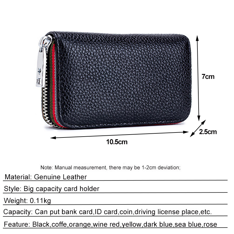 CICICUFF Genuine Leather Small Women RFID Credit Card Holder Multi-card Men's Organizer Business Cards Bags Cowhide Card Wallet