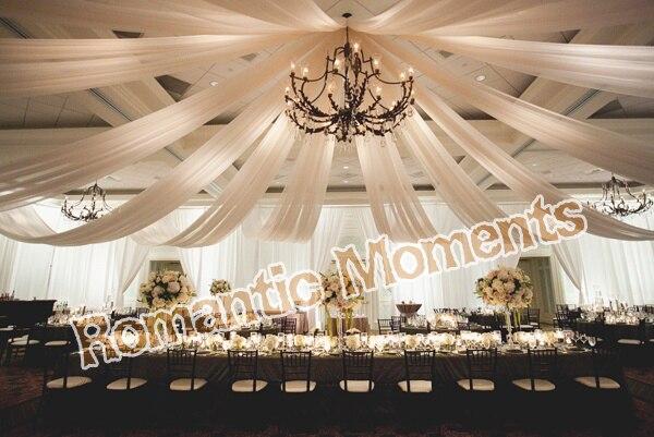 8 Pieces De Mariage Plafond Drape De Tentures Canopy Pour Decoration
