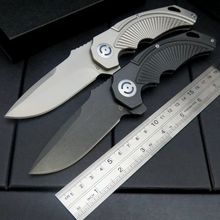 Newest  CSS-333 bearing folding knife D2 blade + all steel handle full CNC machining carved folding Fixable camping knives