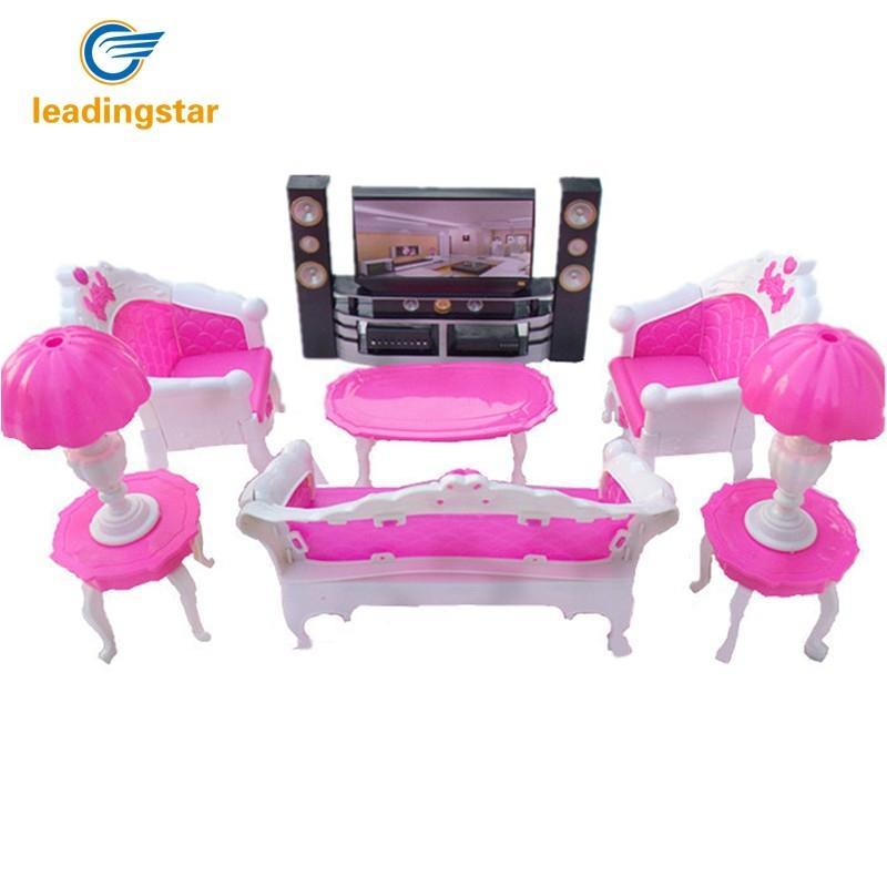 LeadingStar Poupées Accessoires Jouer à Faire Semblant Ensemble De Meubles Jouets pour Poupées Barbie comme Cadeaux De Noël pour Les Enfants Vivant chambre