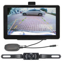 """"""" Автомобильный gps навигатор+ беспроводная камера заднего вида 128 M/8G Bluetooth Hands free AV-IN"""