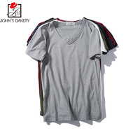 New Fashion 2017 Brand Male T Shirt Solid Color Trends T Shirt Men Funny Summer Tee