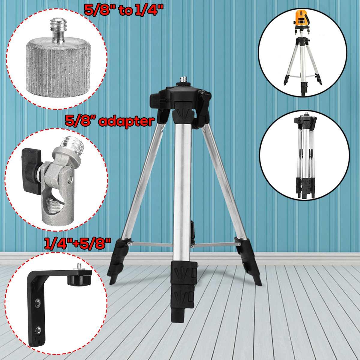 "Adjustable Camera Tripod Stand Holder for Laser Level Measurement Tool L Type Magnet Bracket +5/8'' to 1/4"" +5/8"" Adapter"