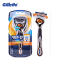 Genuine Gillette Fusion Proglide Flexball Power Razors Brands Men Electric Shavers 1 holder With 1 Blades Safety Razors