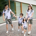 Free Shipping 2017 New camouflage Summer Family Matching Outfits Girl Boy Sets cotton short sleeve T shirt & Shorts Pants casual