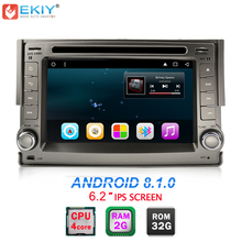 "EKIY 6.2 ""Quad Core Android 8.1 2 Din Car DVD Player Multimediale Per Hyundai H1 H-1 2007-2012 GPS di Navigazione Radio Stereo WIFI BT"
