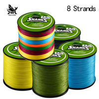 Handing 500M 8 Strands Multifilament Super Strong 8 Braided PE Fishing Line 18LB 96LB Carp Fishing