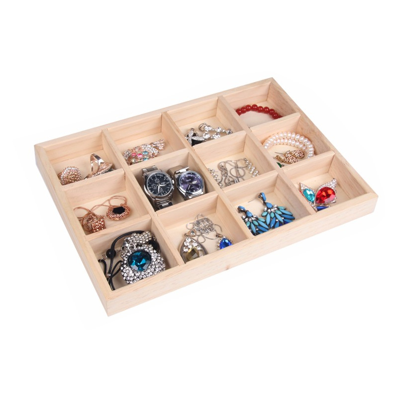 Wood Jewelry Display Tray SolidWood Jewelry Display tray Ring Bracelets Necklace Earrings Display Tray