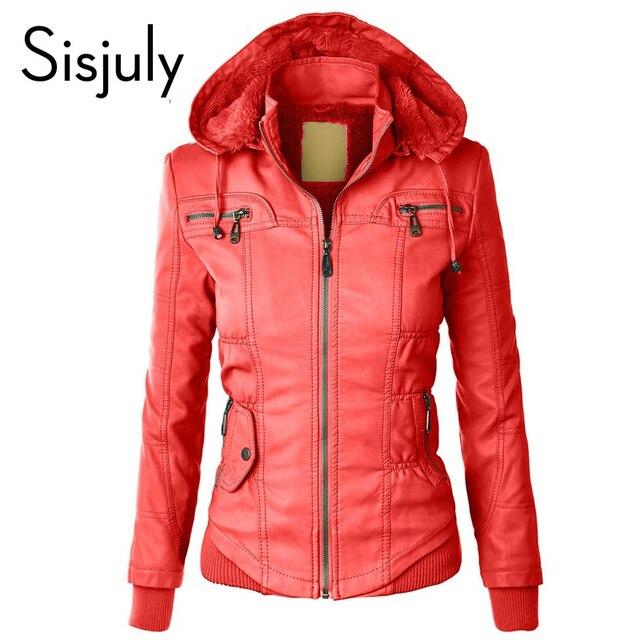 Sisjuly красное пальто Хлопок Женщины карман на молнии флисовые толстовки с капюшоном зимняя одежда с длинным рукавом Осень Повседневный пиджак