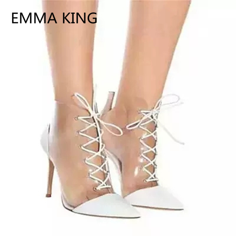 Spitze Pvc Schuhe As High Mode Frühling Shown gebunden Stiefel Transparent In Frauen Picture Frau Stiefeletten Up Sexy as Heels Gummi Spitz Picture Regen Kreuz Ewz6qpS
