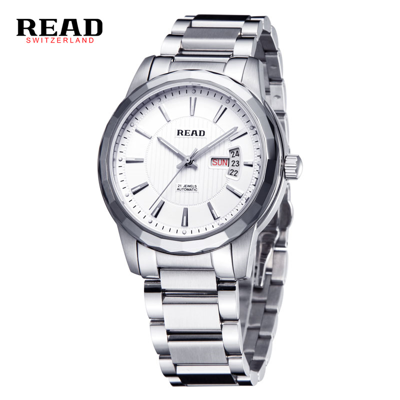READ Fashion Luxury Brand Watch Automatic Men Wristwatch Sapphire Men Mechanical Steel Watches relogio masculinoREAD Fashion Luxury Brand Watch Automatic Men Wristwatch Sapphire Men Mechanical Steel Watches relogio masculino