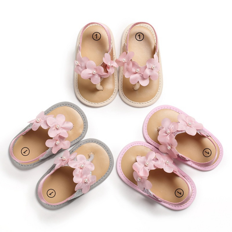 New Summer Cute Baby Girls Garden Sandals Breathable Anti-Slip Flower Design Shoes Sandals Soft Soled Princess Shoes