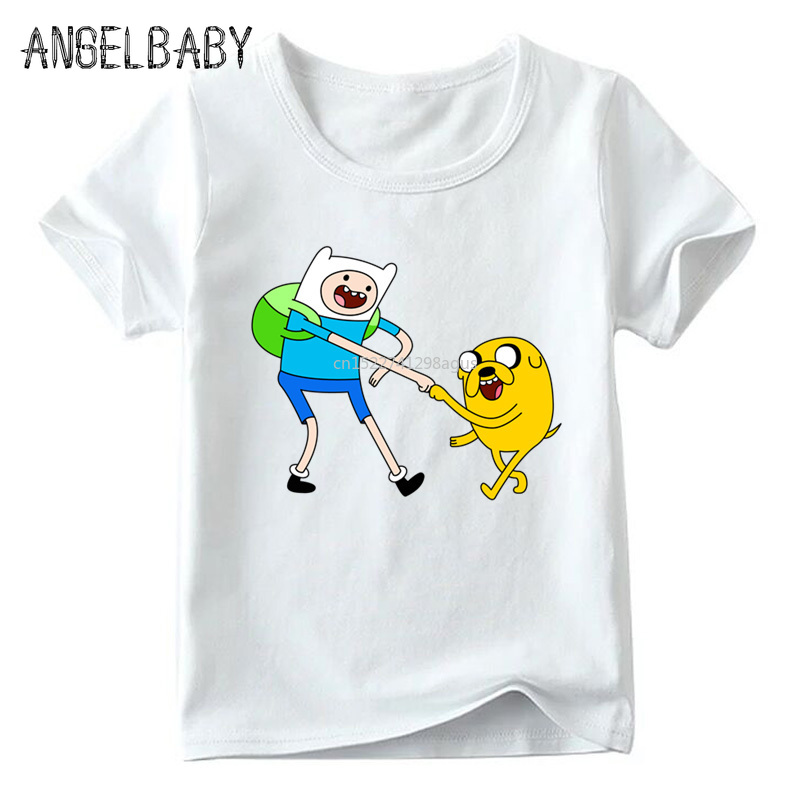 Boys and Girls Cartoon Adventure Time Finn and Jake Design T shirt Kids Summer White Tops Children Funny T-shirt,HKP5200 jung kook bts persona
