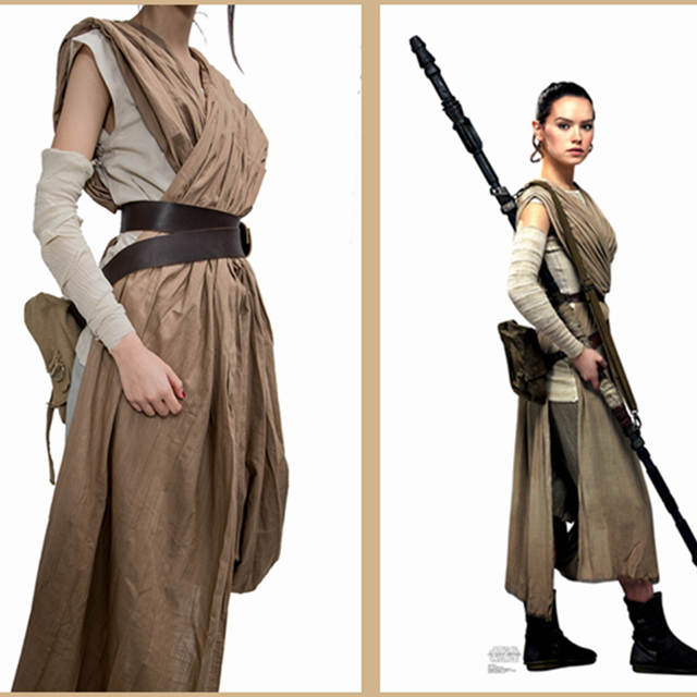 2f9a7e998ae US $116.67 28% OFF|XCOSER Star Wars The Force Awakens Rey Cosplay Costume  Full Set Women Movie Cosplay Costumes Accessories Props Promotion Sale-in  ...
