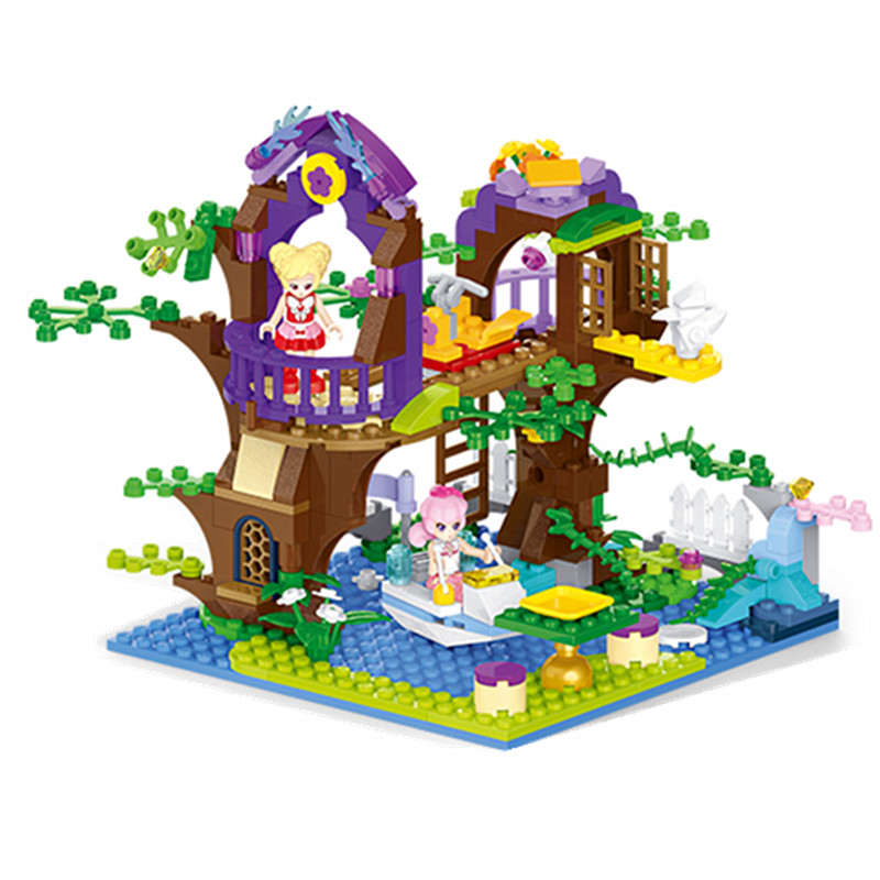 Diy Girls House Magic Fairy Maiden Tree Vine Bay Model Building Block Bricks Toys for Children Compatible With Legoingly Friends magic tree house 7 mammoth to the rescue