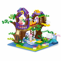 Diy Girls House Magic Fairy Maiden Tree Vine Bay Model Building Block Bricks Toys for Children Compatible With Legoingly Friends