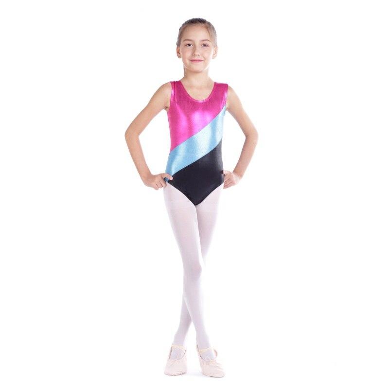 cb4728a14 Gymnastics clothes girls high-quality sleeveless radium color ...