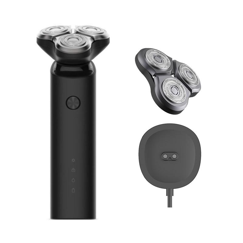 2019 nuevo Xiaomi Mijia máquina de afeitar eléctrica 3 cabeza Flex seco mojado afeitado lavable principal Sub-de doble cuchilla Turbo + modo Comfy Clean