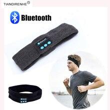 Fashion Bluetooth Smart Caps Wireless Earphone Headband Headphone Sport Fitness Luxury Stereo Bass Music Headset with mic