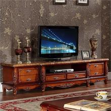 Современная высокая гостиная деревянная мебель ЖК Мраморный ТВ Стенд o1143