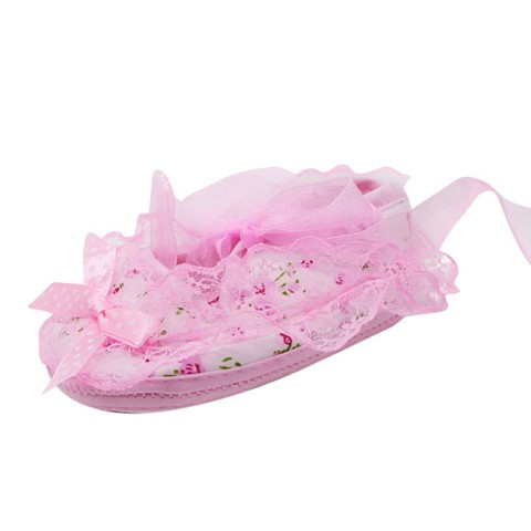 2019 New Lace Bow Baby Girl Princess Shoes Toddler Girl Cute Shoes Newborn High Quality Baby First Walker Shoes Baby Shoes Islamabad