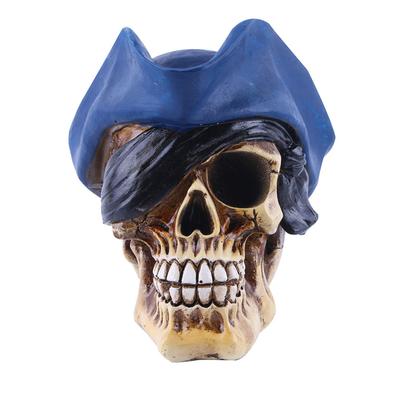 Creative Home Decoration Accessories Resin Craft Skull Statue&Sculpture Ornaments Halloween Gift Resin Skull Statue