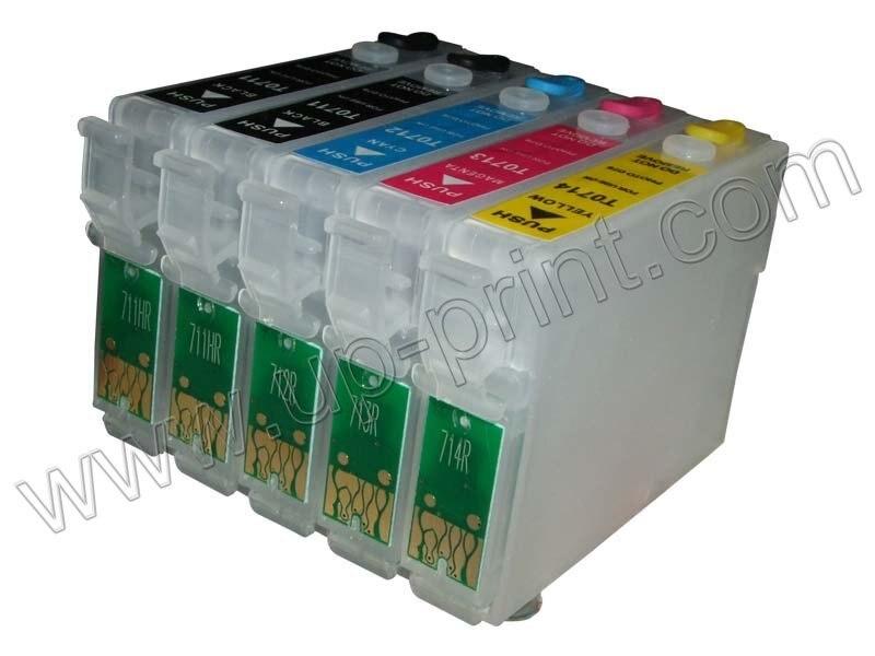 10 комплектов перезаправляемый картридж для epson Stylus D120 BX310FN с чипом Arc T0711(2)-T0714