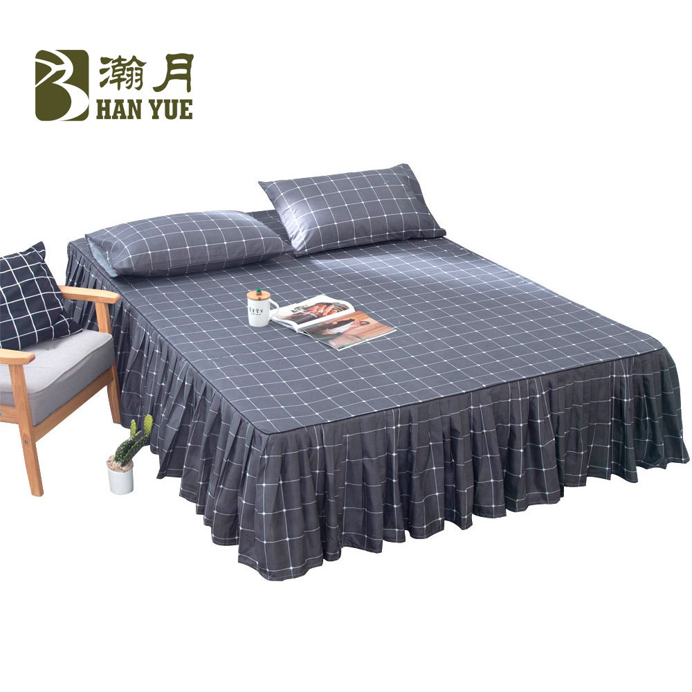 HIgh Quality Hot Sale Aloe Cotton Bedding Bed Skirt Set Pillowcases Bed Sheets Mattress Skirts Cover King Full Queen Twin Size