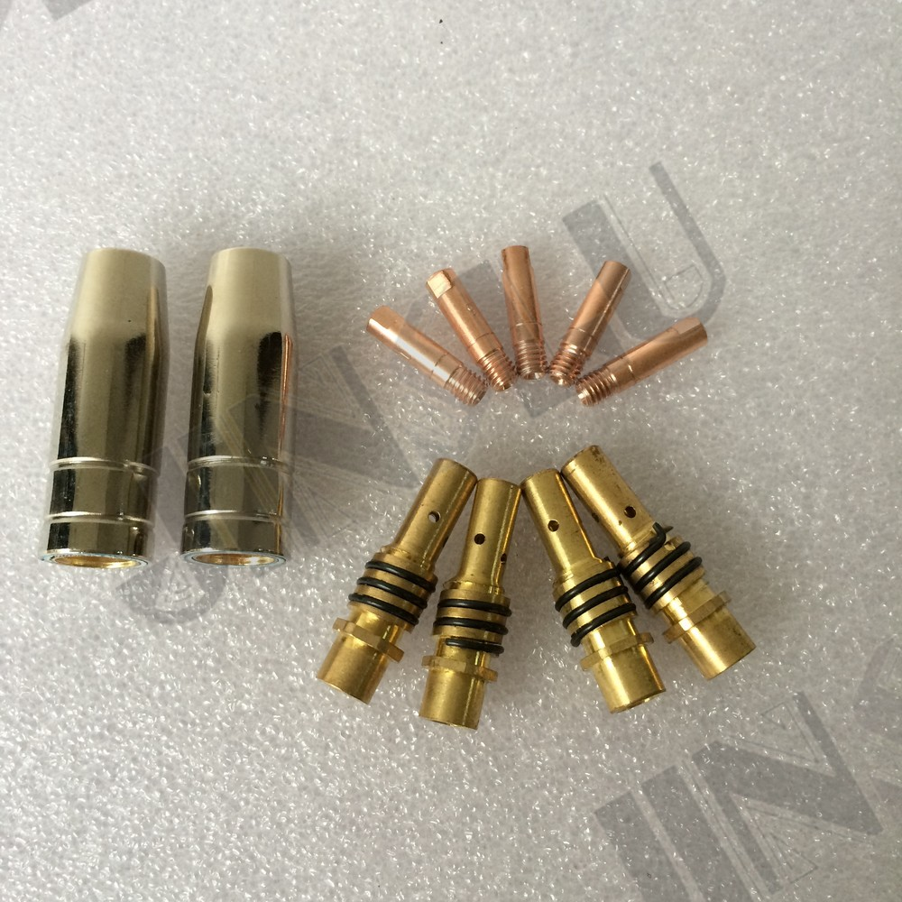HITBOX MB15 Tips Consumables For MB15 Mig Welding Torch Kit Contact Tip Nozzles