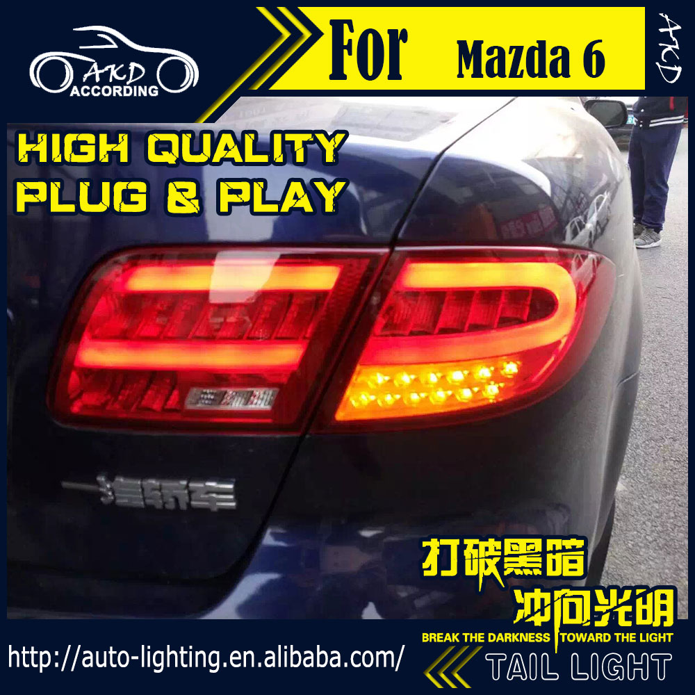 buy car styling tail lamp for mazda 6 tail lights 2004 2012 mazda6 led tail. Black Bedroom Furniture Sets. Home Design Ideas