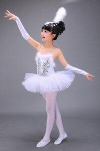 Профессиональная белая балетная пачка «Лебединое озеро», костюм для девочек, детские балерины, платье для балета, Одежда для танцев, платье для девочек