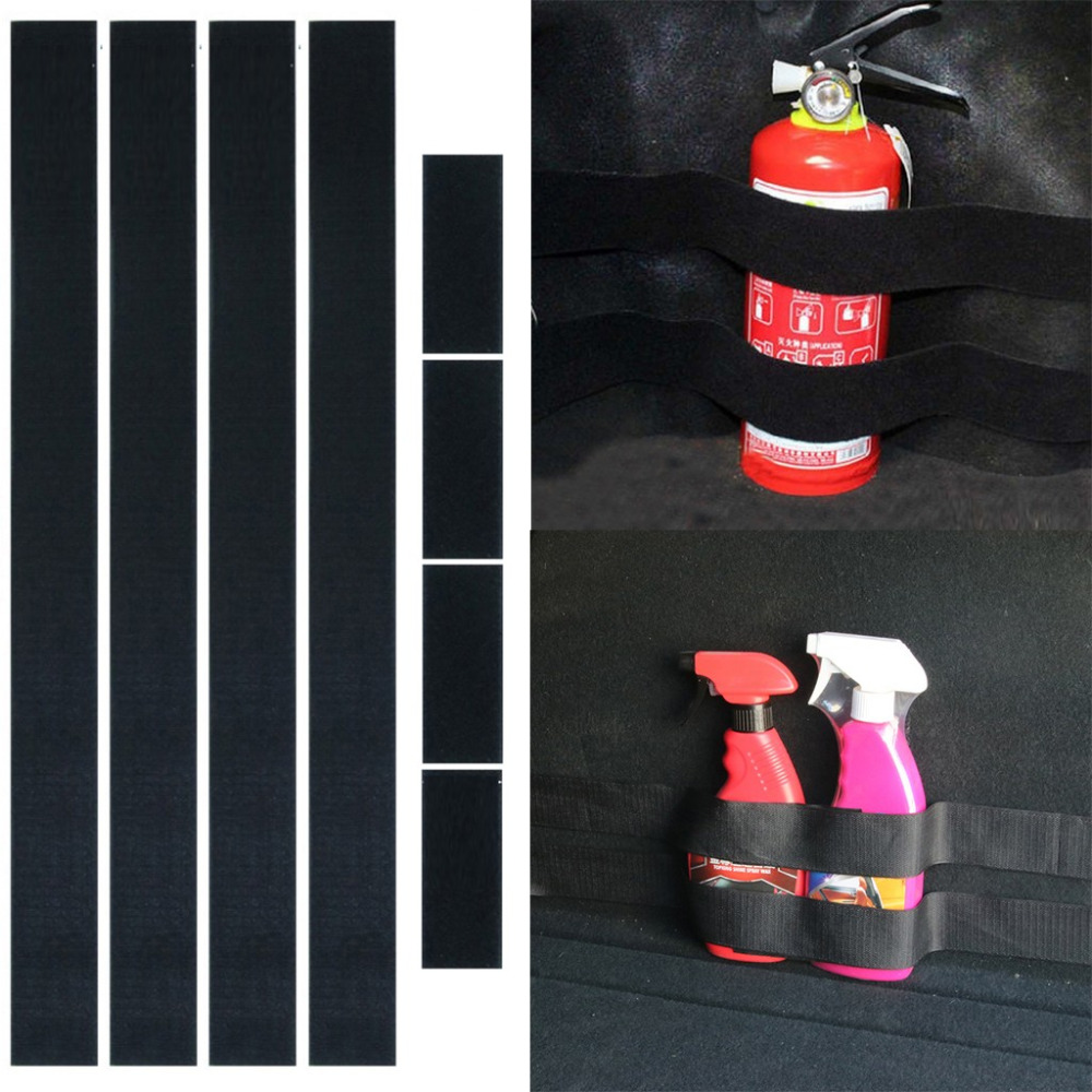 4Pcs/2Set Car Trunk store content bag Rapid Fire extinguisher Holder Safety Strap Kit