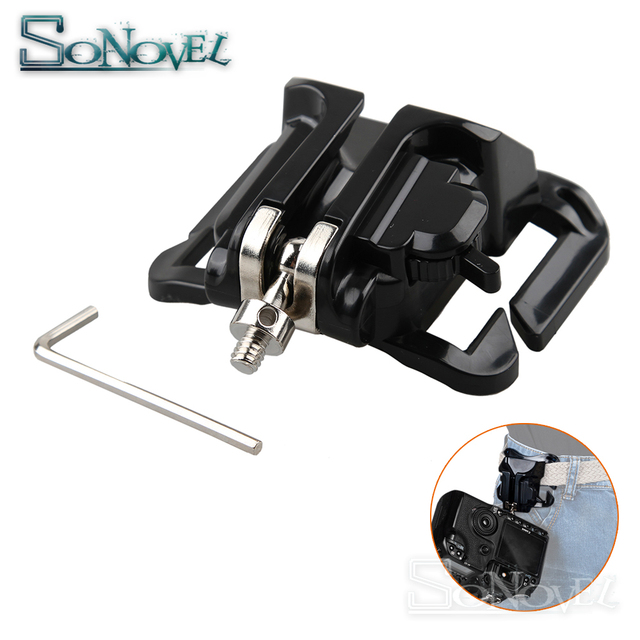 Cool Fast Loading Holster Hanger Waist Belt Buckle Button Mount Clip For Sony Canon Nikon DSLR Camera