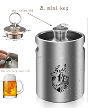 2L 64OZ KEG STORM 304 Stainless Steel Mini Keg Beer Growler Making Bar Accessories Tool  With Vent valve
