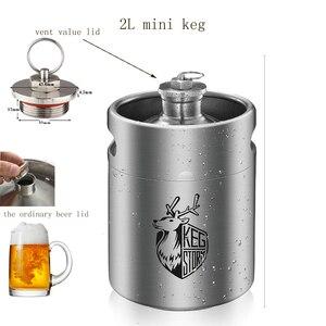 KEG STORM 2L 64OZ en acier inoxydable | Mini fût de culture de bière, accessoires de Bar, outil avec valve de ventilation