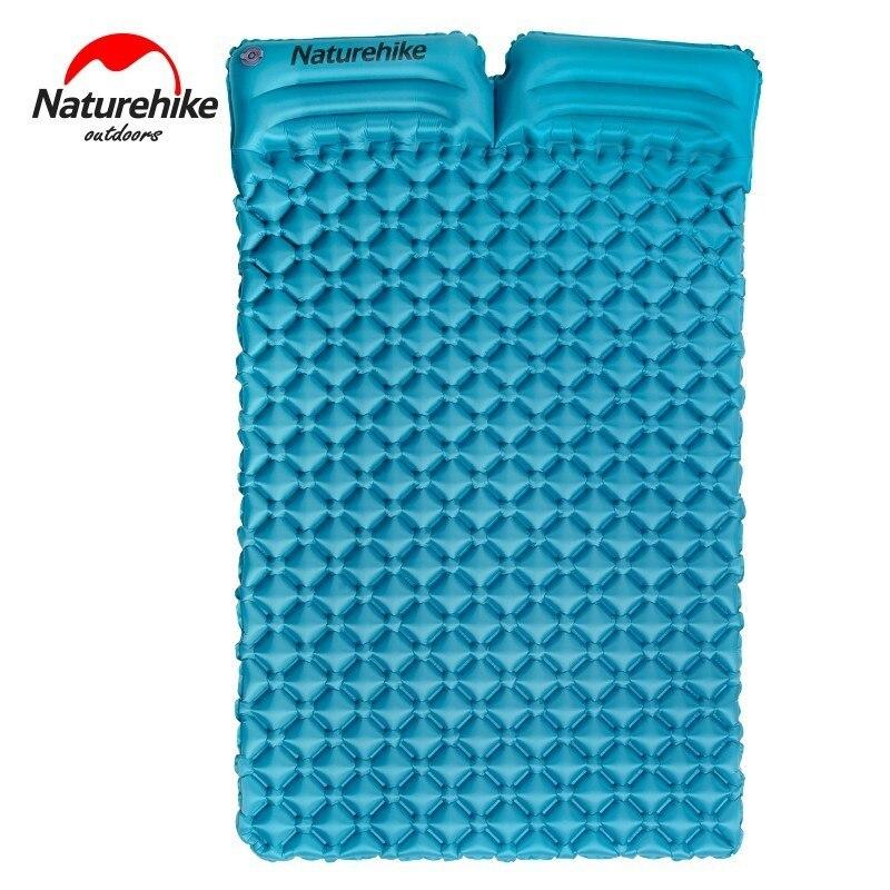 Matelas gonflable naturel avec deux oreillers pour Double tapis de Camping en plein air tente plage lit de Camp pliant 185*115*5cm